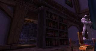 Passez derrière la bibliothèque