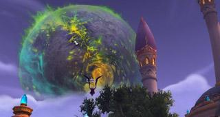Argus visible au-dessus de Dalaran
