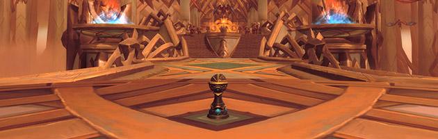 Le piédestal à l'entrée d'un donjon mythique permet de lancer le mode mythique +