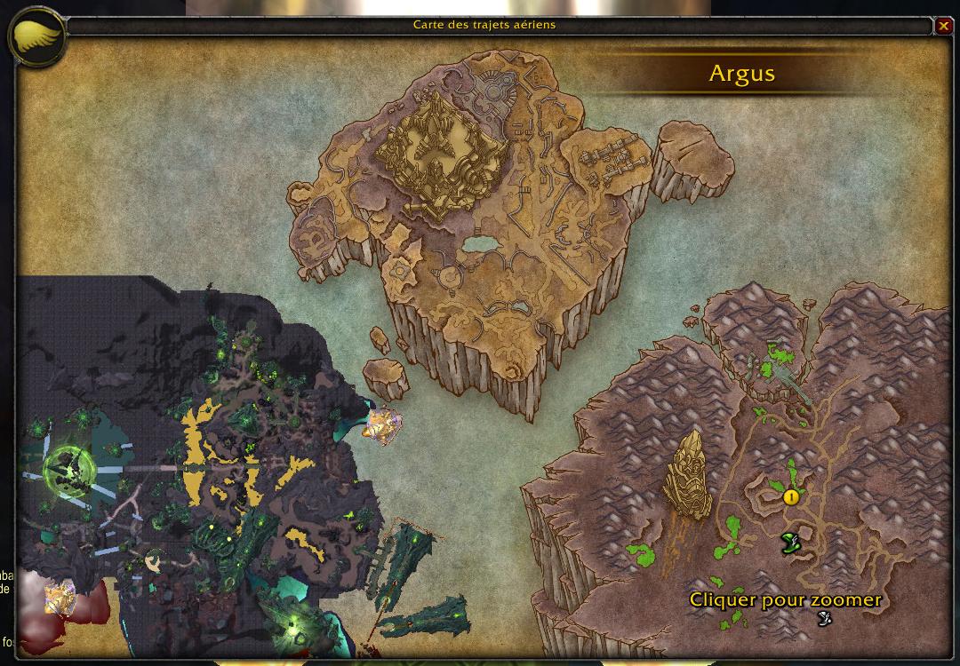 Une première version de la carte d'Argus