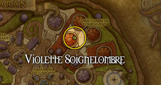Position de Violette Soignelombre à Dalaran