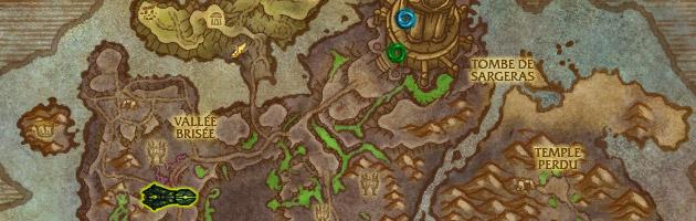 Le rivage Brisé où les joueurs doivent se rendre afin de combattre la Légion