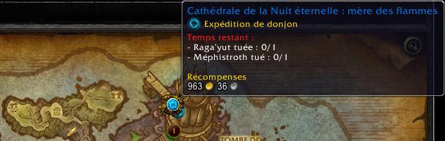 Débloquez des expéditions pour la Cathédrale de la Nuit éternelle