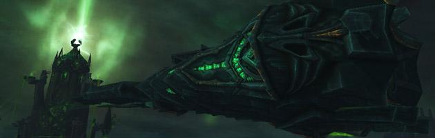 Le vaisseau Sentinax survole le rivage Brisé