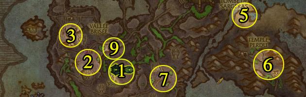Le Sentinax peut survoler 9 zones différentes du rivage Brisé