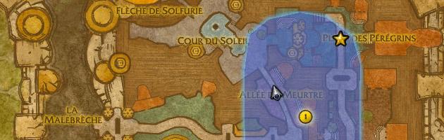 Votre cible est indiquée sur la carte en étant représentée par une étoile
