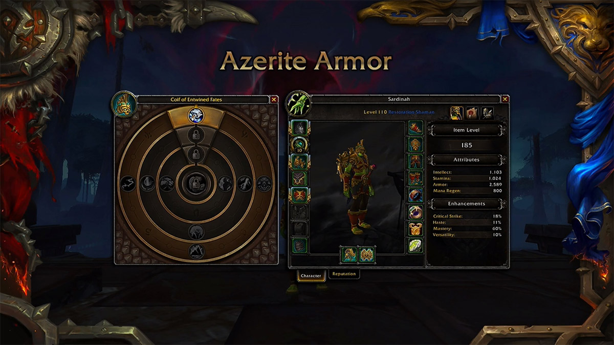 Le coeur d'Azeroth vous permettra de débloquer de nouvelles techniques