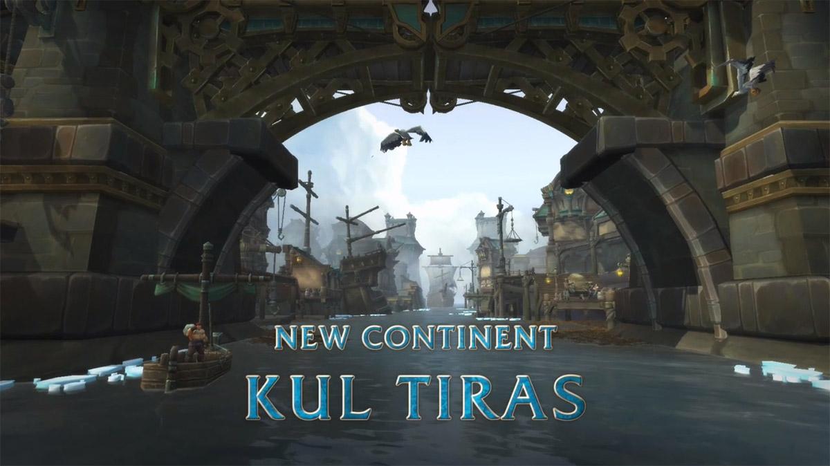 Kul Tiras est le continent de l'Alliance