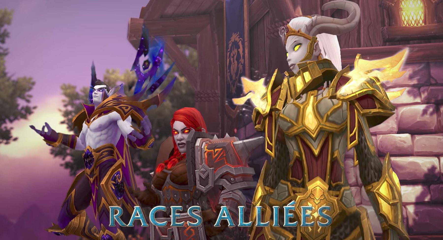 Les races secondaires rejoignant l'Alliance