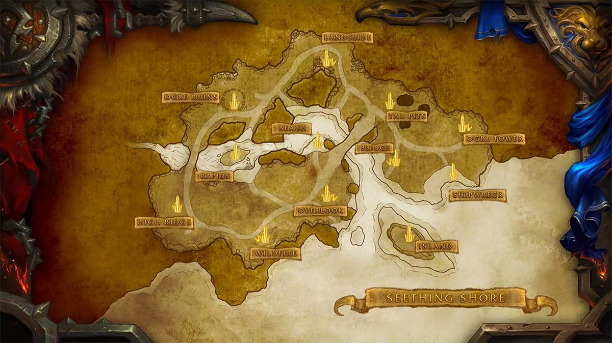 Seething Shore est un nouveau champ de bataille (patch 7.3.5)