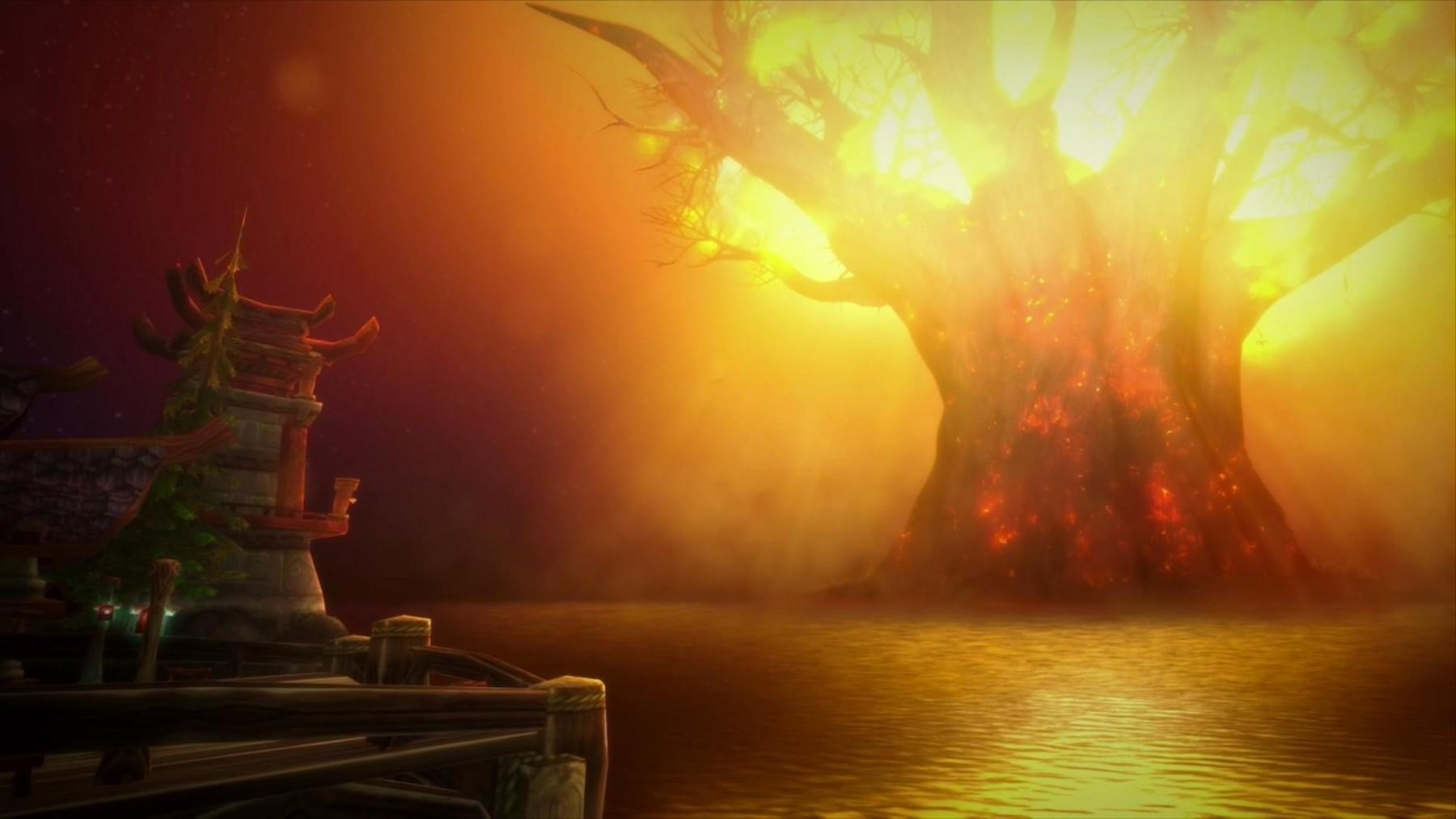 La Horde a brûlé Teldrasill, l'arbre monde des Elfes de la nuit