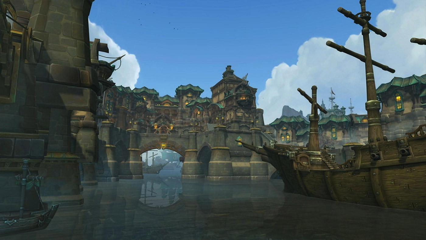 La vallée Chantorage est la zone dans laquelle sont construits les navires de Kul Tiras