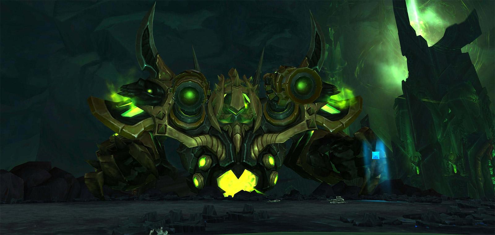 Le rang 3 de la cuirasse en empyrium est détenu par le premier boss d'Antorus, le brise-monde Garothi