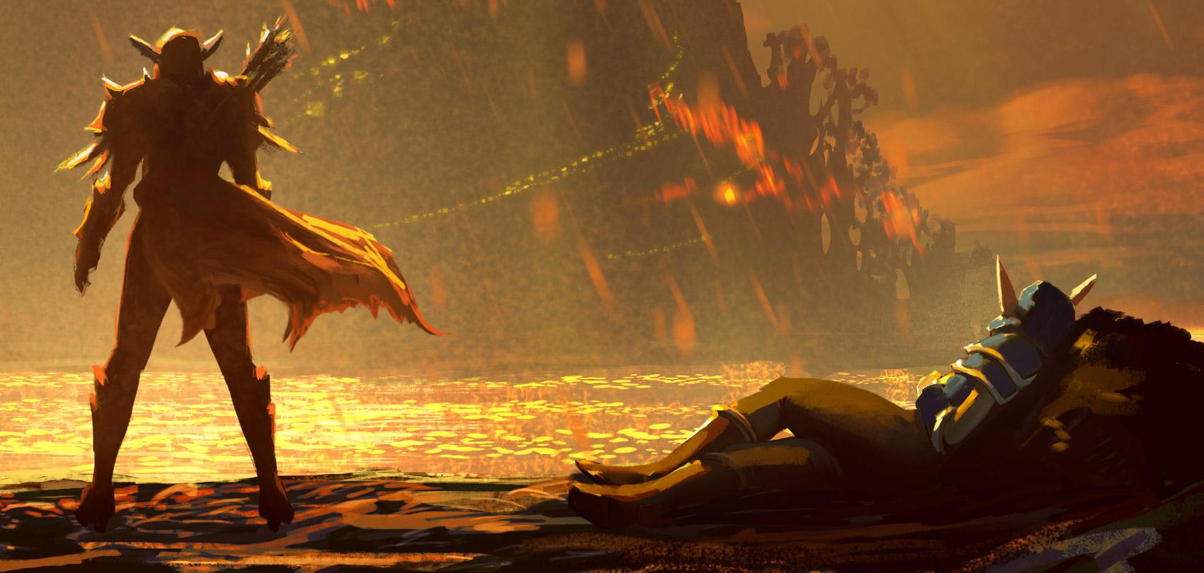 Le mystérieux personnage sur le second artwork