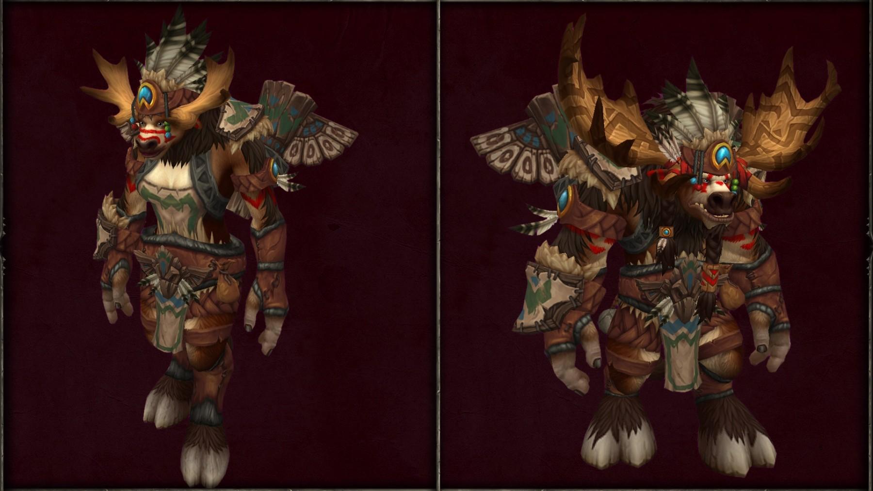 Les Taurens de Haut-Roc et leur ensemble d'armure ancestrale