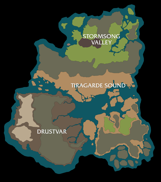 Carte du continent Kul Tiras dans Battle for Azeroth
