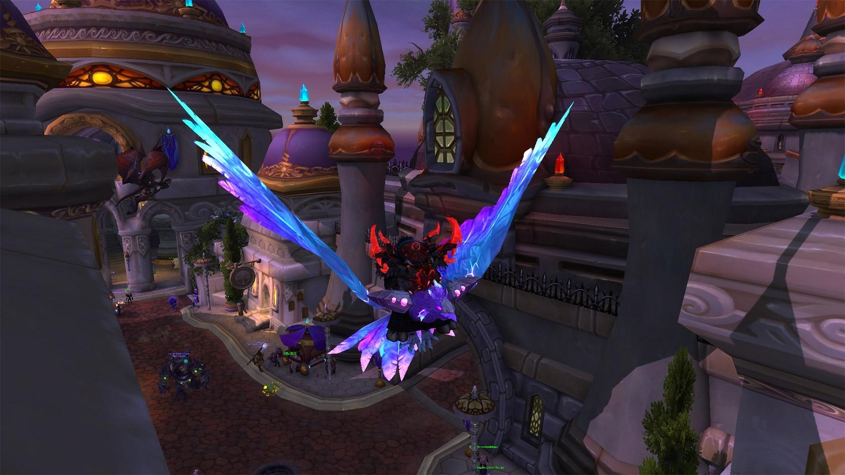 L'aile-ensorcelée pourpre peut être obtenue sur Argus l'Annihilateur en mode héroïque