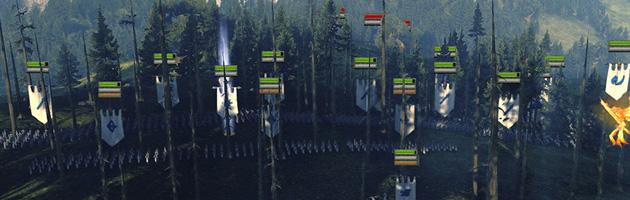 Les forêts dissimulent les déplacements de vos troupes aux yeux de l'ennemi