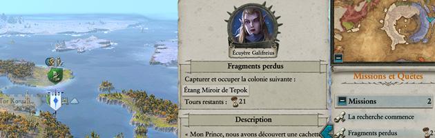 Certaines missions Hauts Elfes permettent d'obtenir des fragments Gardiens pour les rituels