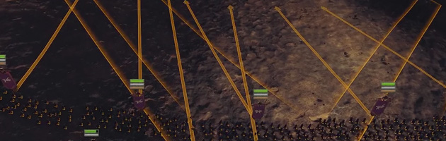 La touche espace vous permet de voir en un coup d'œil tous les ordres donnés à votre armée