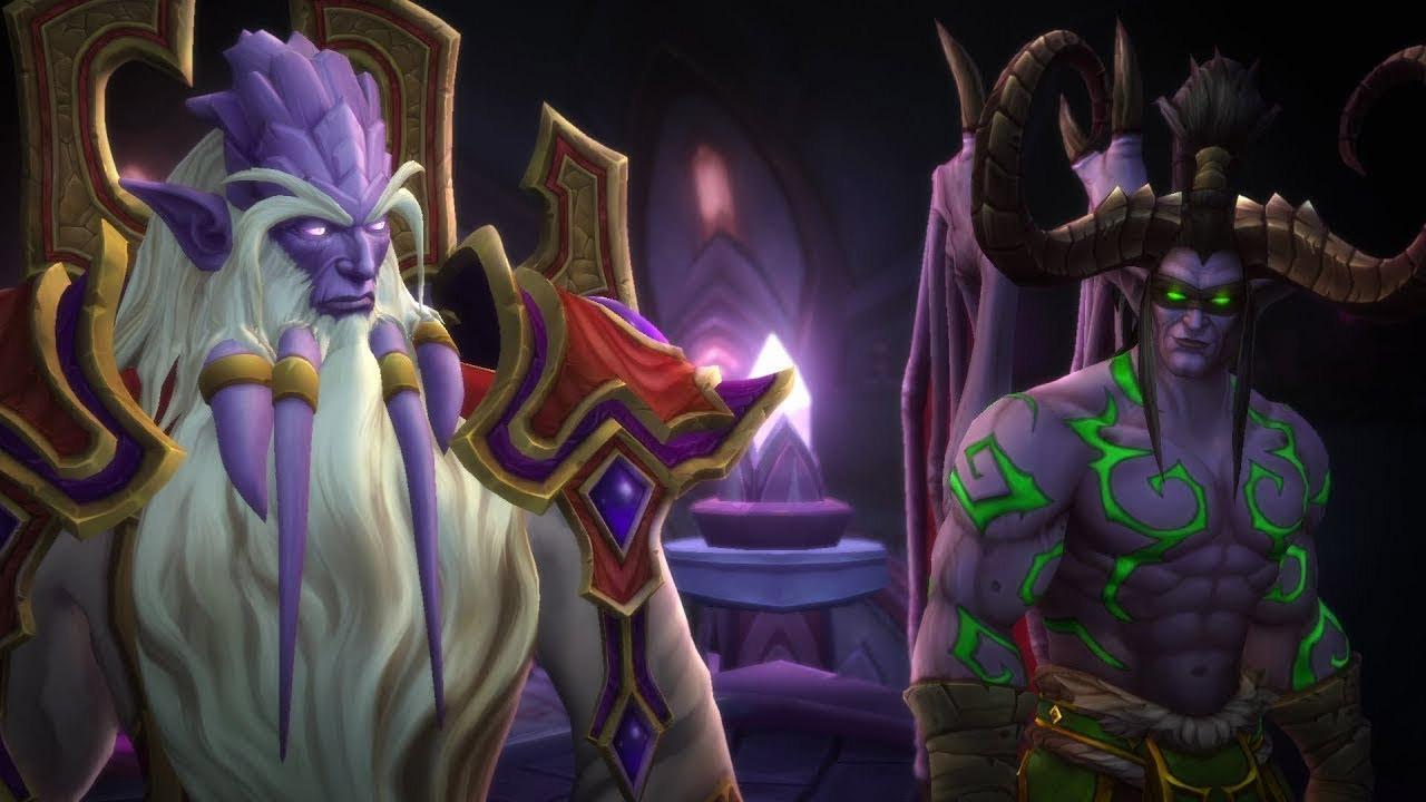 Un dialogue entre Illidan, Magni et Velen précède le combat final