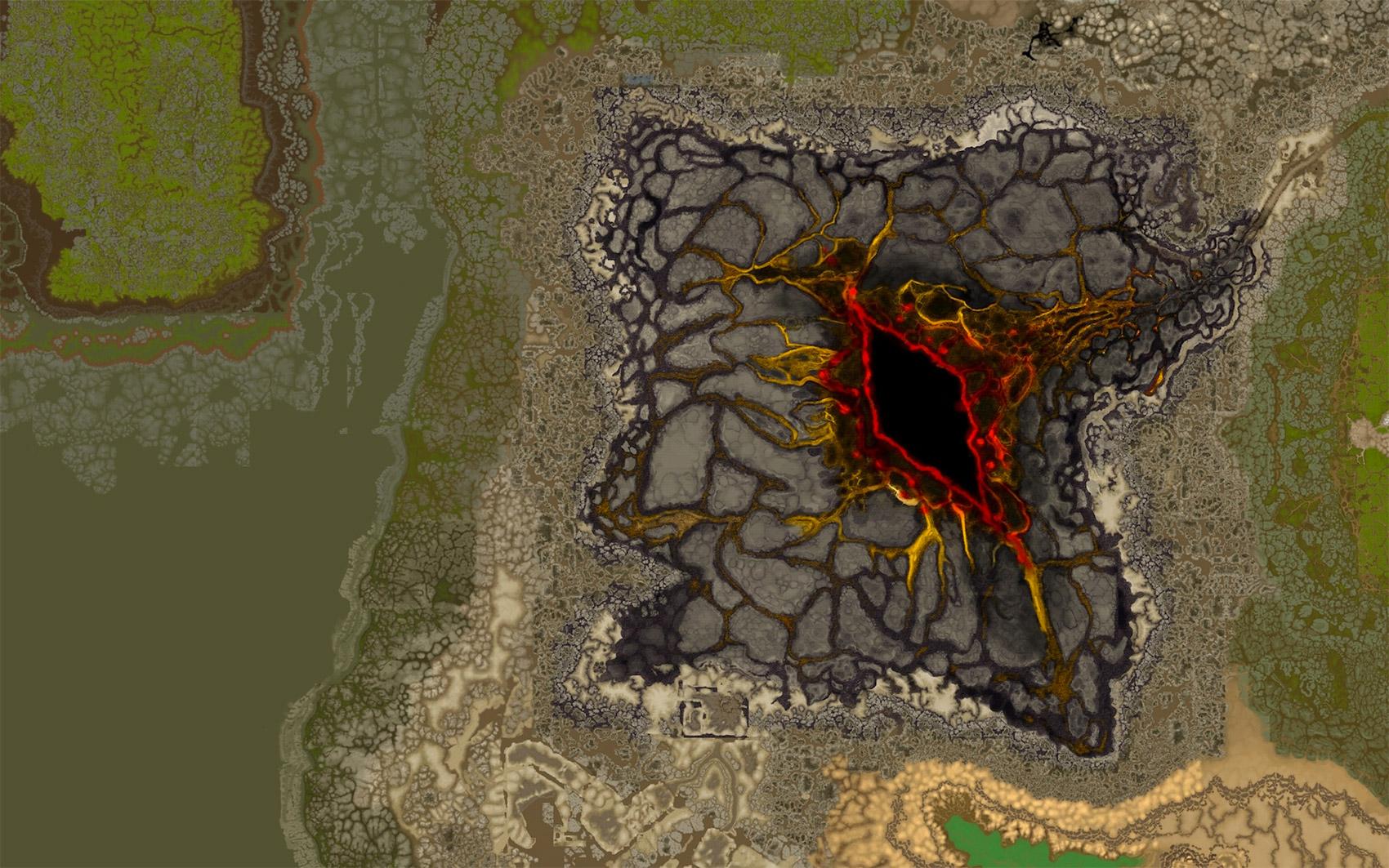 La carte de Silithus au patch 7.3.2 a été mise à jour.