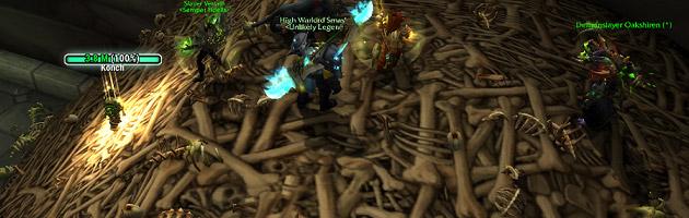 Trouvez la montagne d'os dans la crypte oubliée sous Karazhan