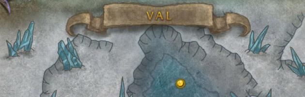 Une carte du Val l'un des accès des sites d'invasion prioritaires menant vers le world boss Occularus