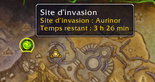 Site d'invasion inférieur