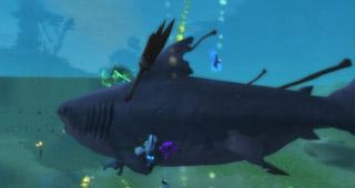 Vous devez vaincre le requin pour obtenir le jouet