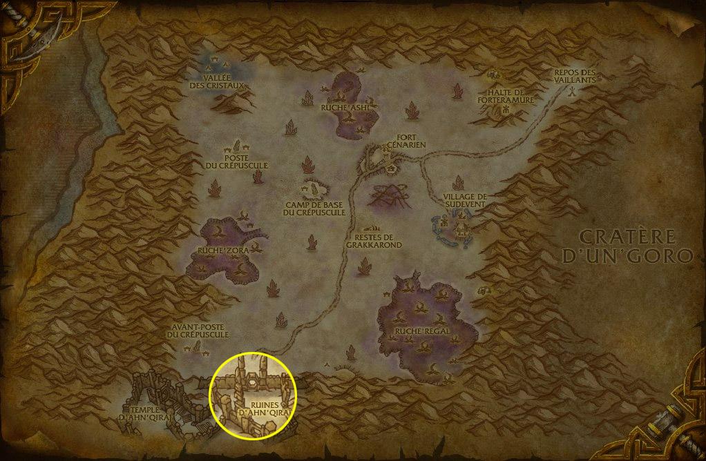Rendez-vous au Sud de Silithus pour obtenir la mascotte Petit gardien qiraji