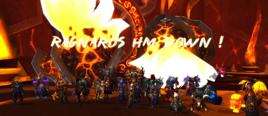 Wraith est la première guilde à avoir tué Ragnaros 25 HM