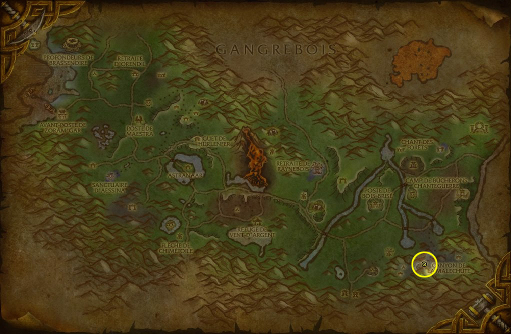 Canyon de la Malechute pour la Horde