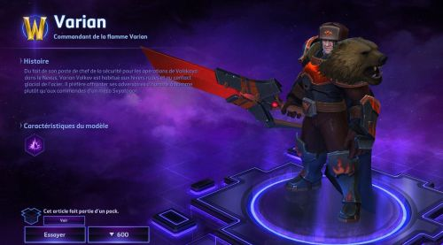 Image de Heroes of the Storm : Skins Varian patch 28