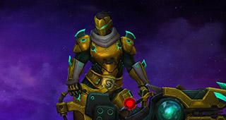 Zarya, cyber-démon doré