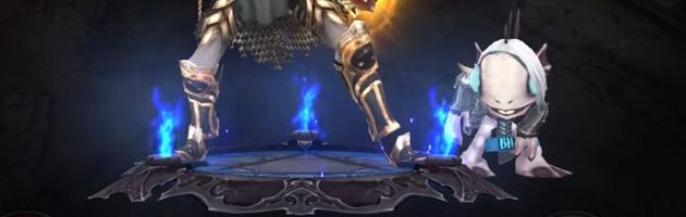 Mascotte Nécrobourbie pour Diablo grâce à l'achat du billet virtuel