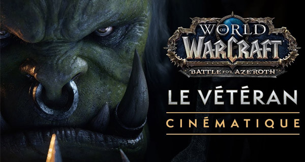 battle for azeroth : cinematique le veteran mettant en scene saurcroc