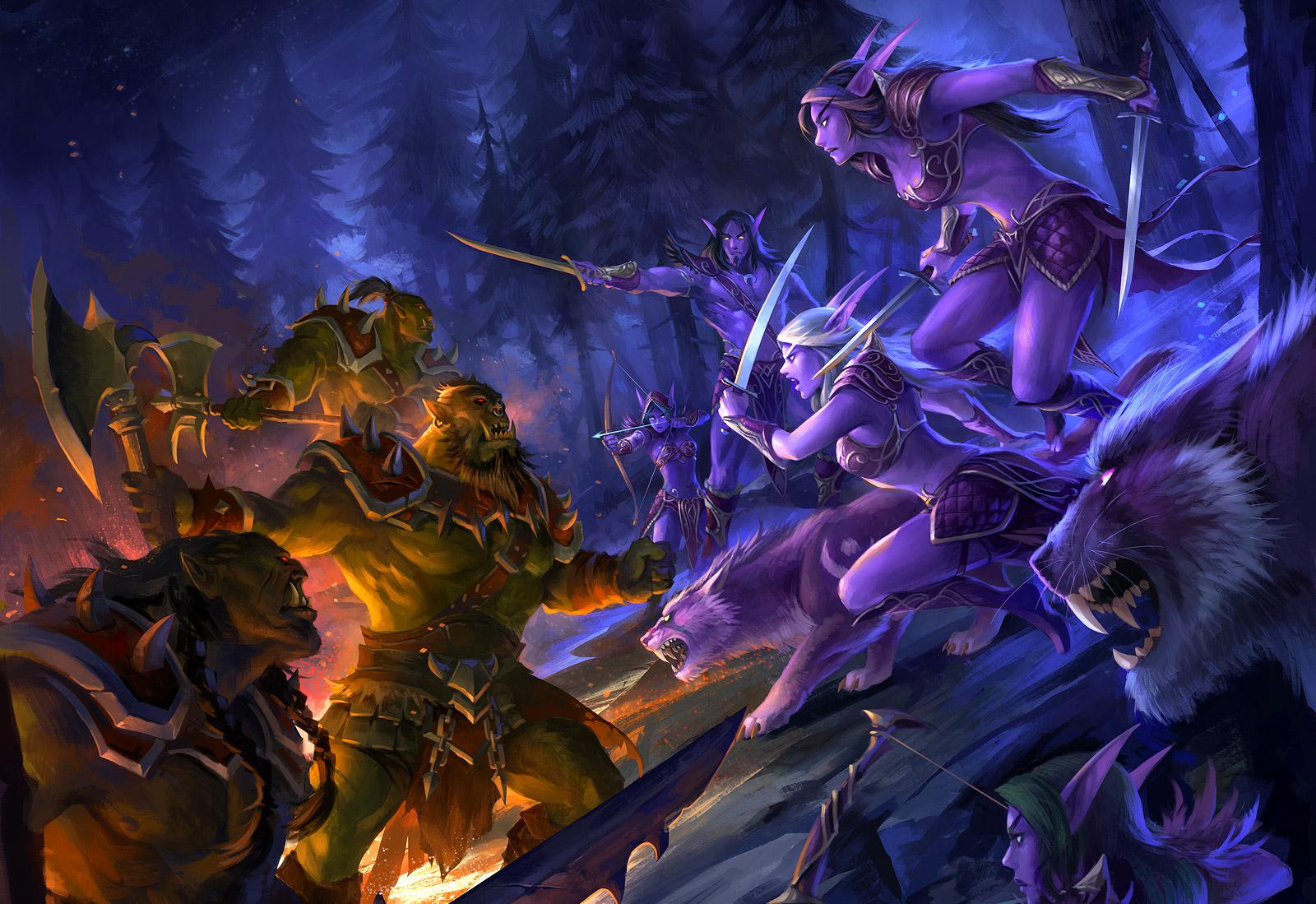 Malgré la débâcle, les Elfes opposent une résistance farouche à la Horde