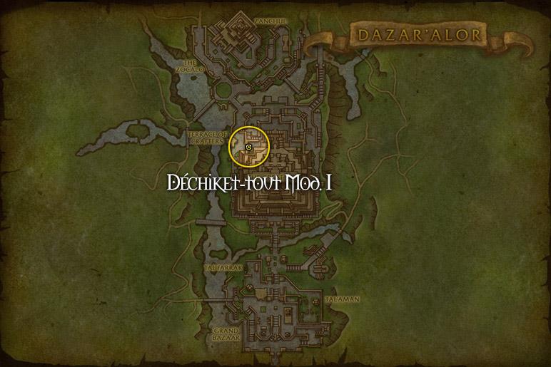 Celui de Dazar'Alor se trouve à la terrasse de l'Artisanat