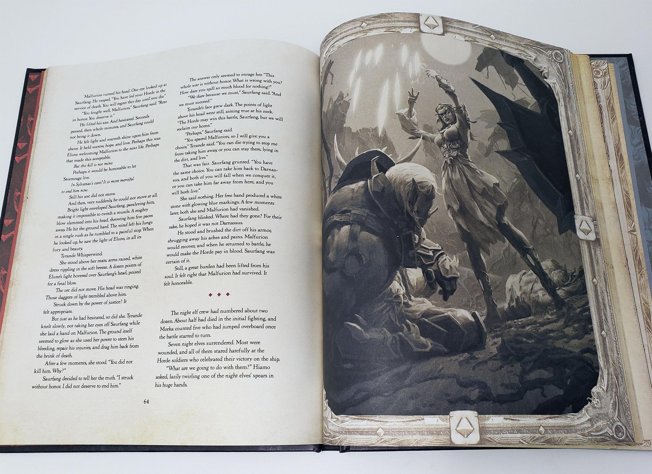 La rencontre entre Tyrande et Saurcroc est beaucoup plus détaillée dans le livre Élégie