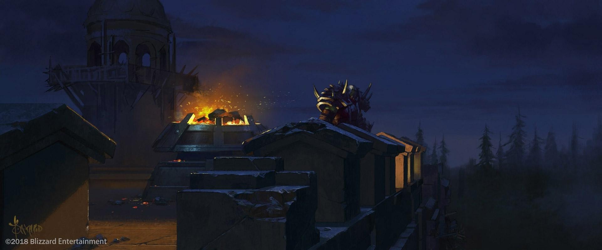 Saurcroc sur les remparts de Lordaeron