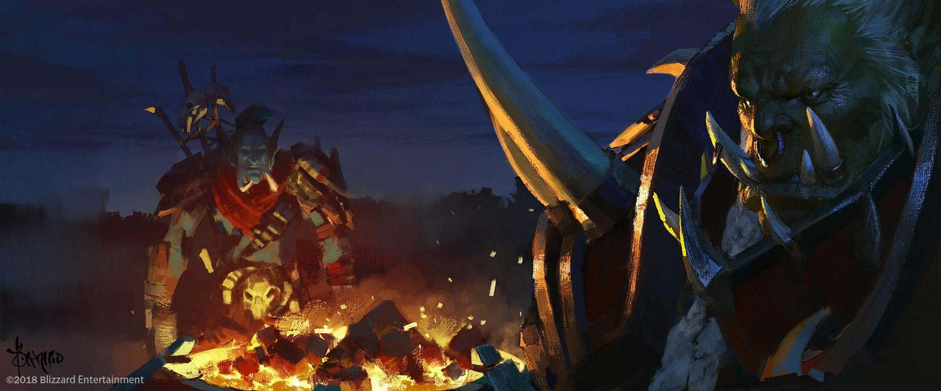 Saurcroc rencontre Zekhan sur les remparts de Lordaeron