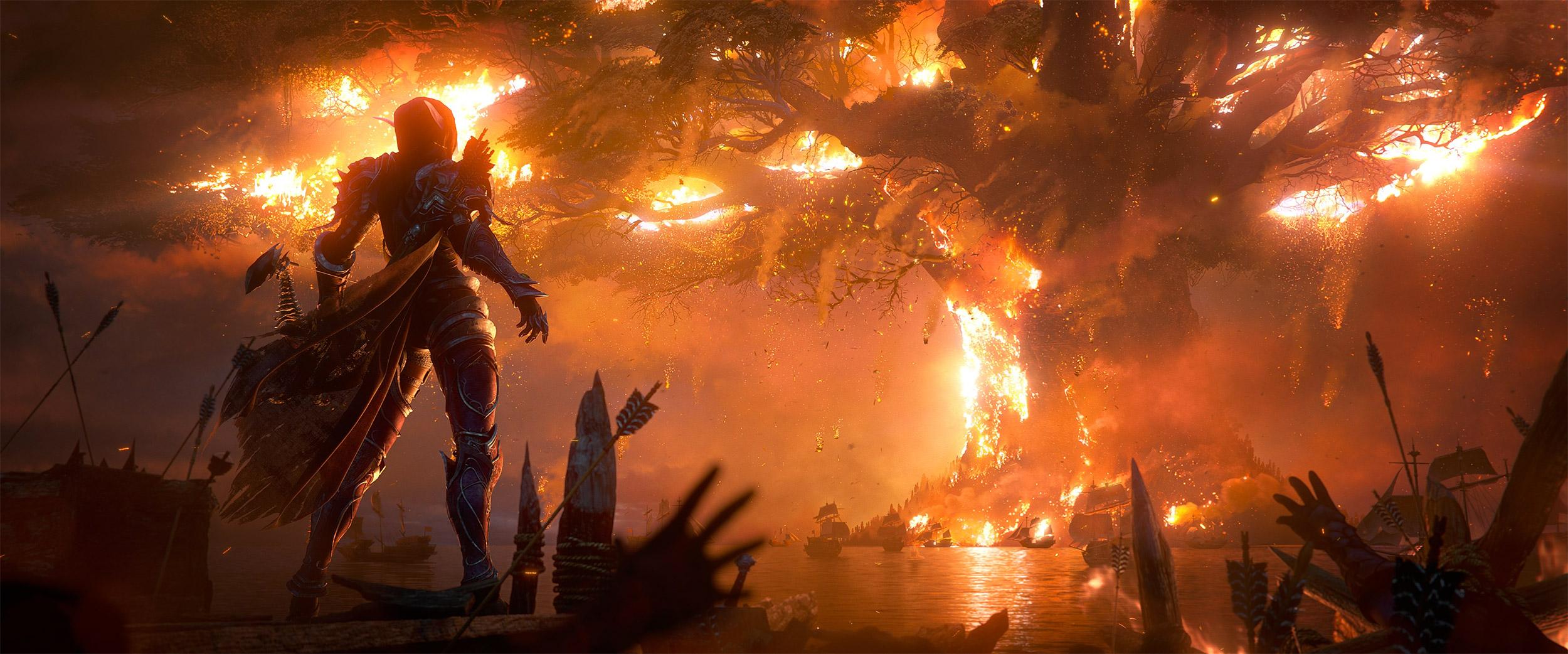 Alors que Tyrande soigne les brûlés, elle apprend que la Horde a incendié Teldrassil