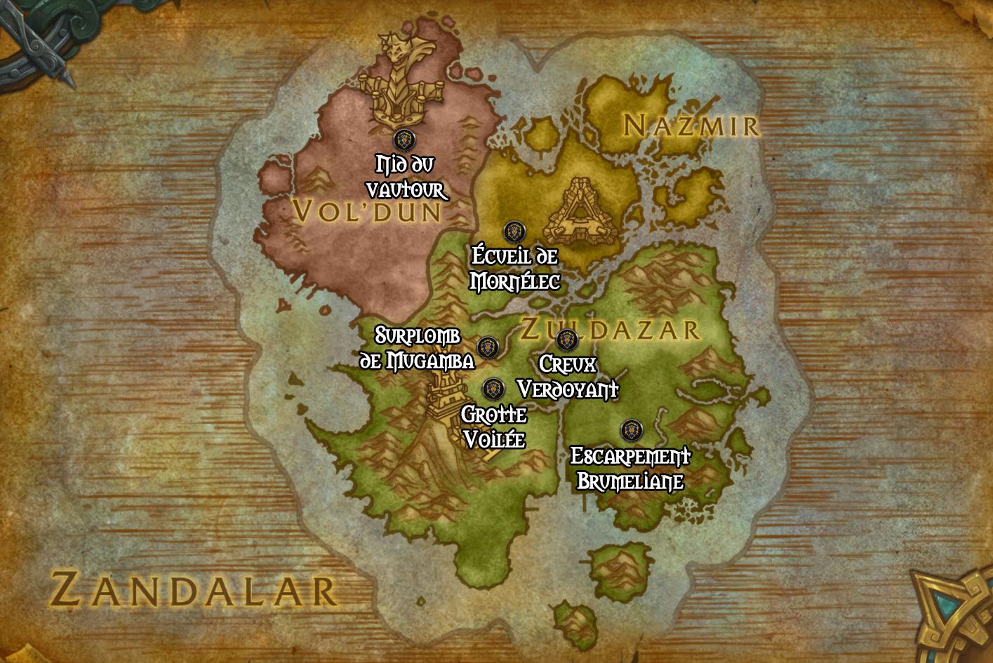 Les avant-postes de l'Alliance en Zandalar