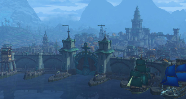 boralus : capitale de l'alliance dans battle for azeroth