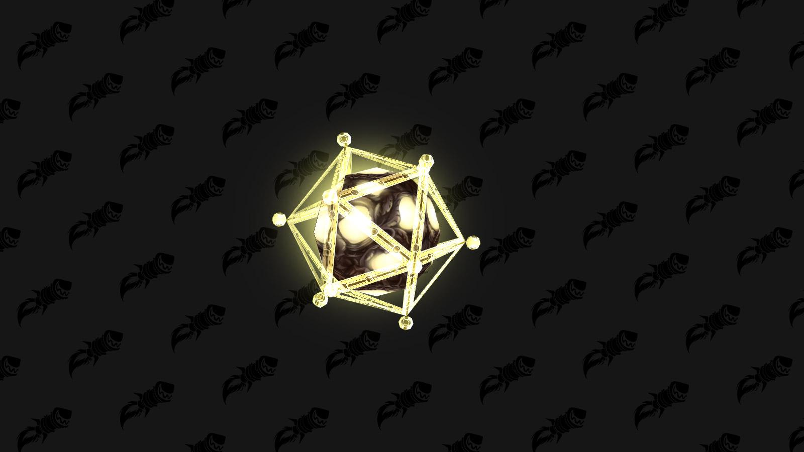 Minuscule orbe de Titan, mascotte BFA qui s'obtient sur le rare Écho de Myzrael