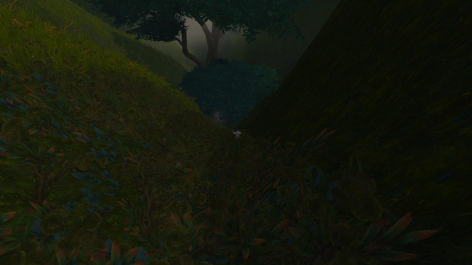 Descendez jusqu'à atteindre l'arbre