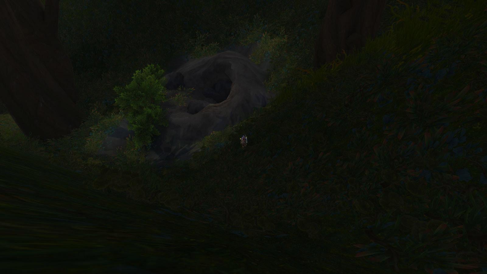 Trouvez la grotte au pied de l'arbre