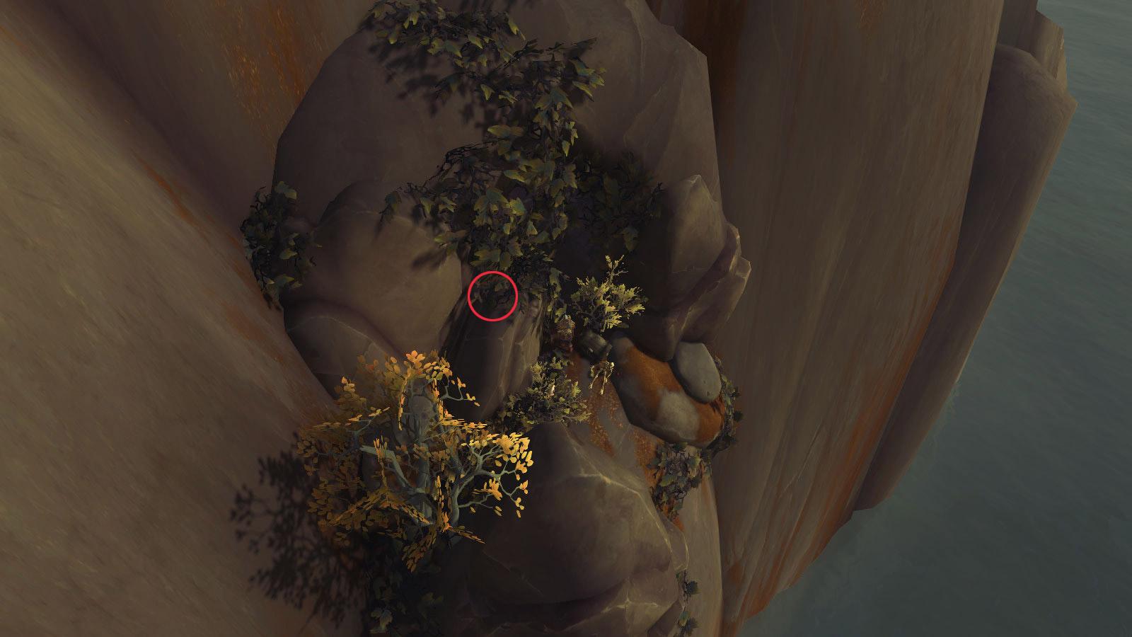 Trouvez la pièce sur le haut de l'entrée de la grotte
