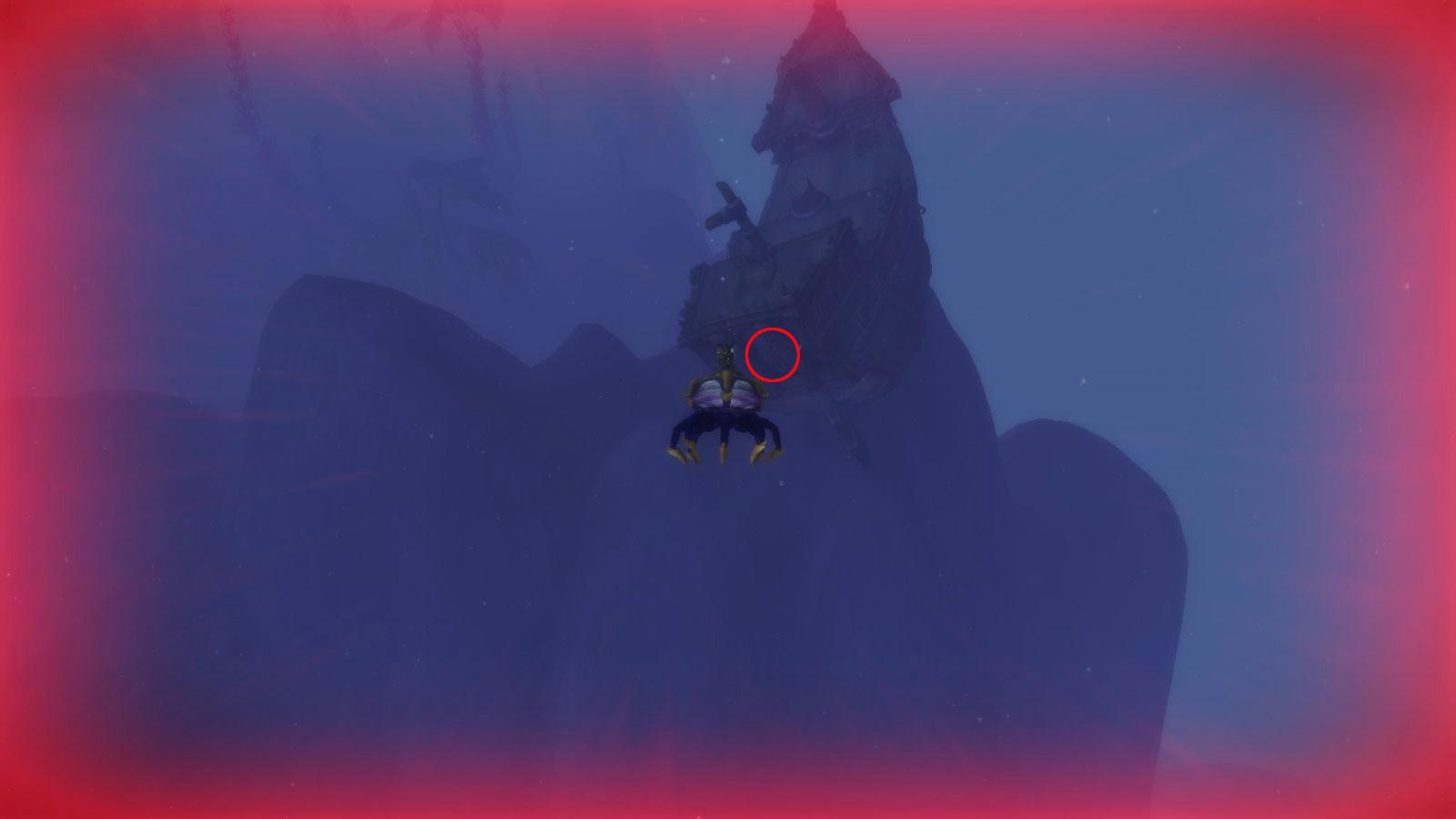 Trouvez l'épave au fond de l'eau